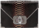 Notte by Marchesa Valentina Large Python Envelope Clutch Bag, Multi