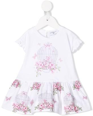MonnaLisa Floral Print Ruffled Dress