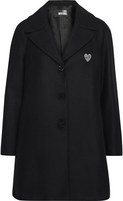 Love Moschino Appliqued Wool-blend Coat