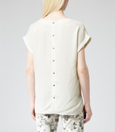 Reiss Eleanor BUTTON BACK TOP
