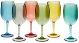 DuraClear® Multicolor Red Wine Glasses, Set of 6