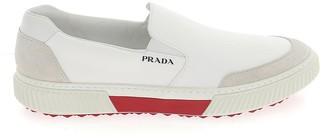 Prada Logo Slip-On Sneakers