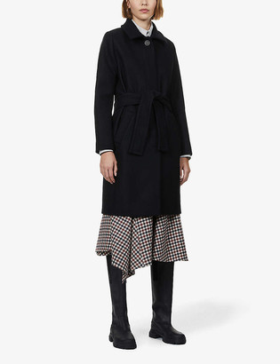 Sessun Martin belted wool-blend coat