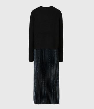 AllSaints Leowa Viola 2-In-1 Dress