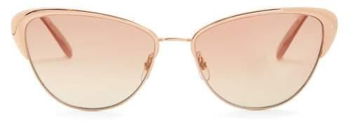 Garrett Leight Vista 56 Cat Eye Sunglasses - Womens - Rose Gold