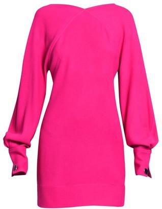 Victoria Beckham Balloon-Sleeve Open Back Mini Dress