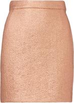 Carven Rose Gold Mini Skirt