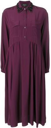 Rochas Embellished Collar Shirt Dress