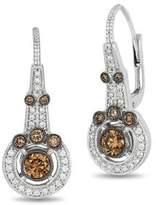 LeVian Le Vian Chocolatier Vanilla Diamonds, Chocolate Diamonds and 14K Vanilla Gold Earrings