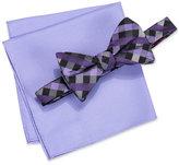 Alfani Men's Purple Pre-Tied Bow Tie & Pocket Square Set, Only at Macy's