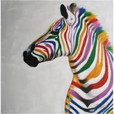 Swann Imports Chuck the Zebra Painted Canvas Wall Art
