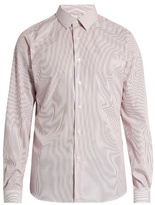 Valentino Button-cuff Pinstriped Cotton-poplin Shirt