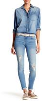 Just USA Mid Rise Distressed Skinny Jean