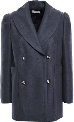Nina Ricci Double-breasted Wool-felt Coat