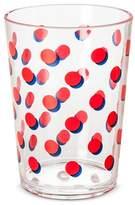 Plastic Short Tumbler 16oz Red Dots