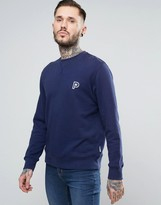 Penfield Redlands Crew Sweat Small P in Navy
