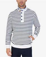 Nautica Men's Striped Funnel-Neck Sweatshirt