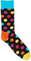 Happy Socks NEW Big Dot Multi Dark Grey Assorted