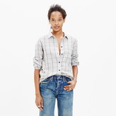 Madewell Slim Boyshirt in Slater Plaid
