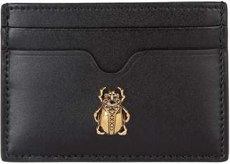 Alexander McQueen Leather Beetle Card Holder