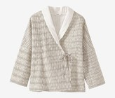 Toast Ikat Check Cotton Bed Jacket