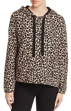 Velvet by Graham & Spencer Kassidy Leopard Print Hooded Sweatshirt
