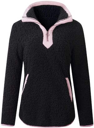 Goodnight Macaroon 'Tara' Pink Half-Zip Fleece Pullover (5 Colors)