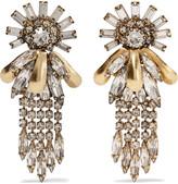 Elizabeth Cole Zandra gold-tone crystal earrings