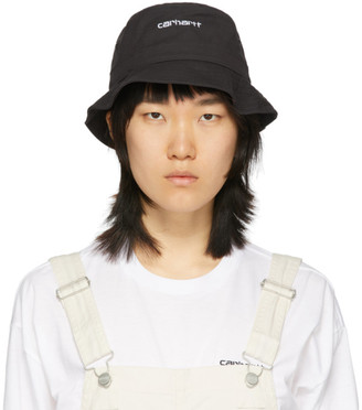 Carhartt Work In Progress Black Logo Script Bucket Hat