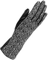 Wilsons Leather Womens Boucle Knit Glove W/ Leather Palm