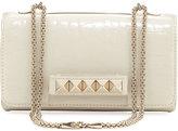 Valentino Chain Alligator Shoulder Bag, Ivory