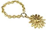 Chanel Gold-Tone Metal Lion Motif Chain Bracelet