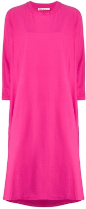 Marni back pleated detail T-shirt dress