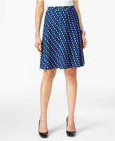 ECI Printed Textured A-Line Skirt