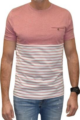 Vintage 1946 Block Stripe Hem T-Shirt