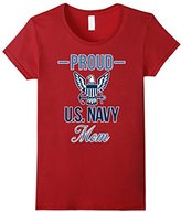 "Women's Navy Mom T-Shirt ""Proud US Navy Mom"" Small"
