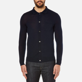A.P.C. Men's Paolo Knitted Polo Shirt Marine
