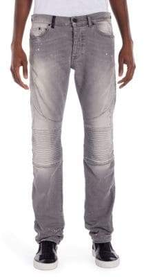 Marcelo Burlon County of Milan Biker Fit Embroidered Jeans