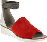 As Is Lori Goldstein Collection Zip Back Sandals w/ Elastic Strap