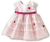Joan Calabrese Baby Girls 6-24 Months Satin Lace-Applique Dress