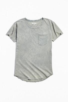 Standard Cloth Scoop Neck Acid Wash Tee