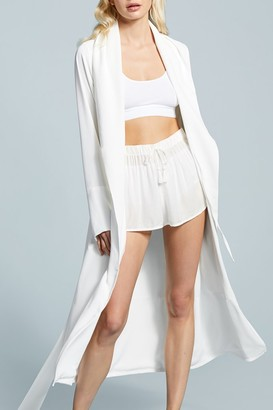 Negative Underwear Icon Robe in White