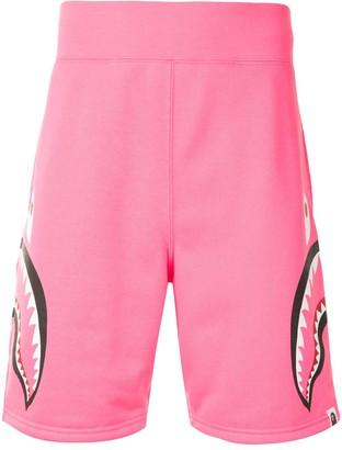 A Bathing Ape Neon Shark sweat shorts