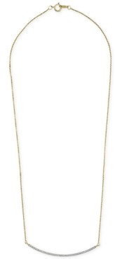 "Wrapped Diamond Bar 18"" Pendant Necklace (1/6 ct. t.w.) in 14k Gold, Created for Macy's"