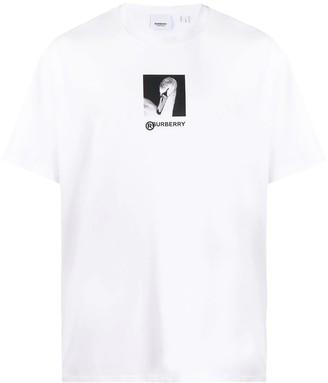 Burberry swan print t-shirt