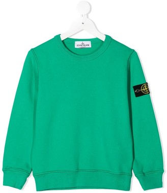 Stone Island Junior Logo Patch Sweatshirt