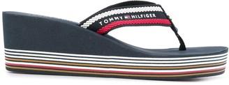 Tommy Hilfiger Stripe Detail Platform Sole Flip-Flops