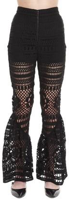Self-Portrait Crochet Wide Leg Pants