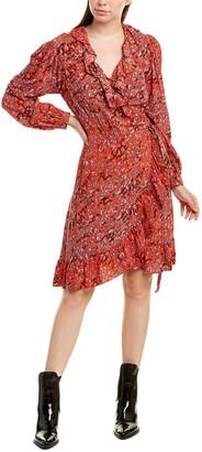 Maje Ruffle Wrap Dress