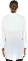 Helmut Lang Mist Oversized Viscose Button Down